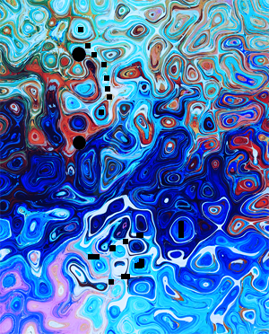 A colorful image generated by a GAN without real-world context