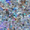A collage of individual images in an image data set