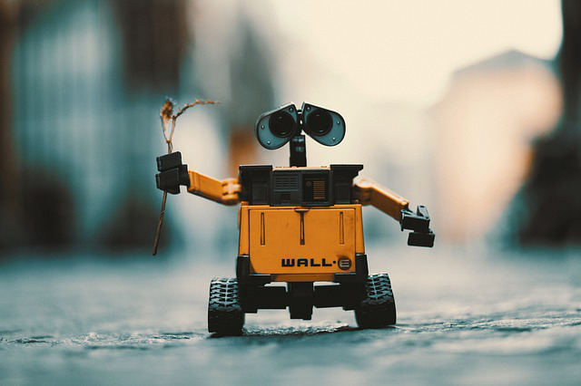 The robot WALL-E from Pixar
